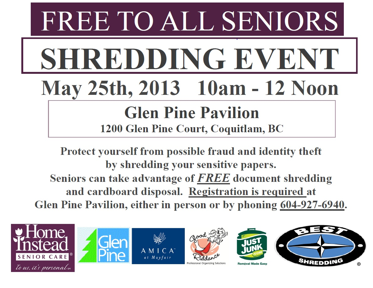 Seniors Shredding Event